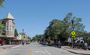 Parker, Colorado - Mainstreet in downtown Parker