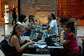 Participantes de la Editatón en el Museo del Bicentenario 2.jpg