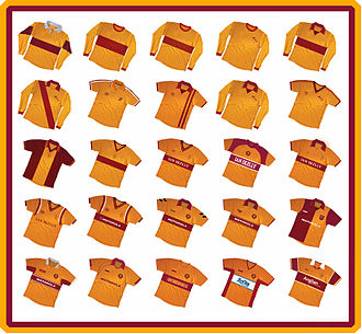 Motherwell F.C. - Image: Past Motherwell Home strips