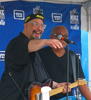 Pat DiNizio - Pat DiNizio and Severo Jornacion of the Smithereens performing at Bar Anticipation in Belmar, New Jersey on August 24, 2012.