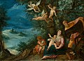 Paul Bril & Hans Rottenhammer - Rest on The Flight into Egypt (National Gallery in Prague).jpg