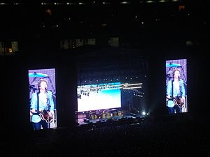 Up and Coming Tour - Paul McCartney performing at Estadio Monumental in Lima, Peru (Up and Coming Tour, 9 May 2011)