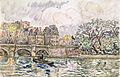 Paul Signac, Paris - Le Place Dauphine, 1928.jpg