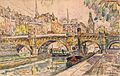 Paul Signac, Tugboat at the Pont Neuf, Paris, 1923.jpg
