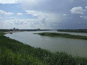 Pavlodar - An embankment on the Irtysh River