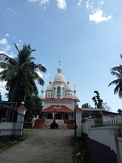 Payyavoor Town in Kerala, India