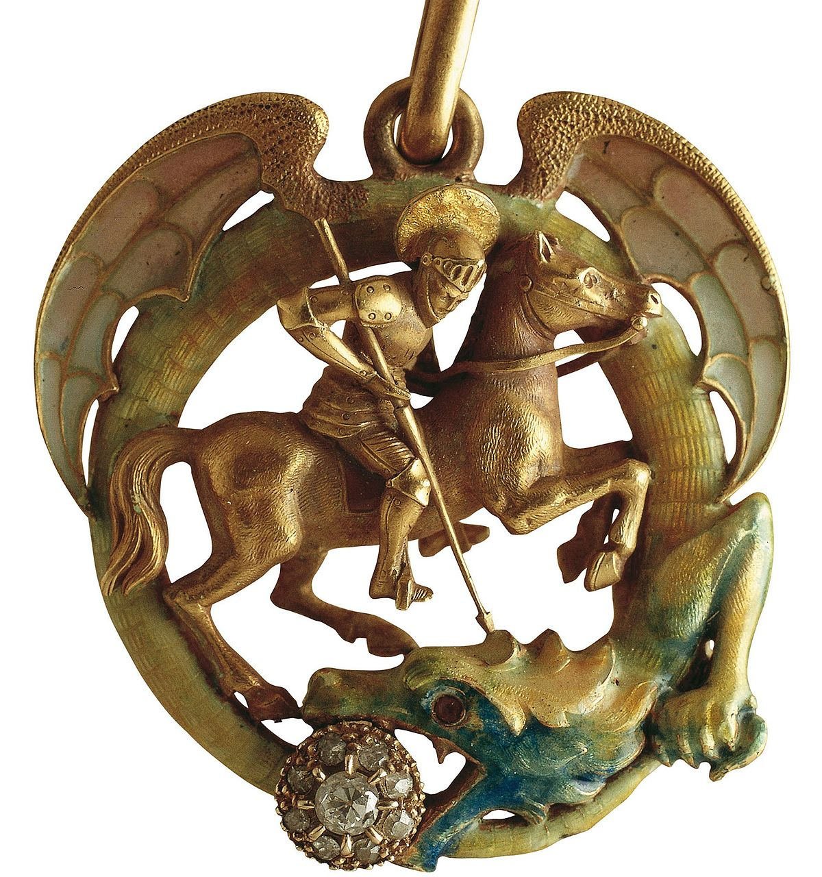 kopecks products petersburg rider slaying coin horse horseback to pendant dragon il george fullxfull collections russian russia necklace slayer st
