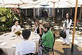 Peng Liyuan and Melania Trump enjoy refreshments on the patio at Mar-a-Lago in Palm Beach, Florida.jpg