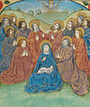 Pentecost descent of the Holy Ghost as a dove (f. 151) Cropped.jpg