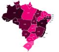 Percentual de Batistas por Estado no Brasil em 2010.png