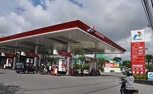 English: Pertamina filling station, Bali Islan...