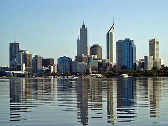 Scottish Australians - The Perth skyline viewed from the Swan River