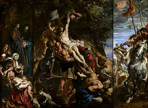 The Elevation of the Cross (Rubens) - Image: Peter Paul Rubens Raising of the Cross 1610