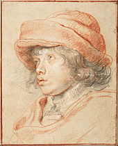 Peter Paul Rubens - Rubens's Son Nicolaas Wearing a Red Felt Cap, 1625-1627 - Google Art Project.jpg