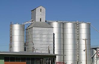 Petersburg, Texas - An old grain elevator in downtown Petersburg