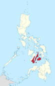 Map of the Philippines highlighting Central Visayas