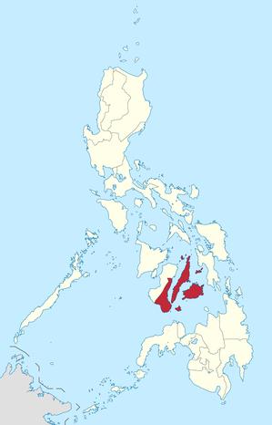 Lage des Bezirkes innerhalb der Philippinen