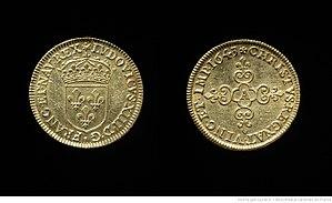 Piedfort - Piedfort of gold écu, Louis XIII, France, 1643