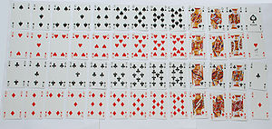 Standard 52-card deck - A set of 52 playing cards of the Rouennais or English  pattern by Piatnik & Söhne