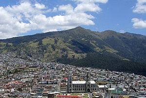 Battle of Pichincha - Quito and the Pichincha volcano