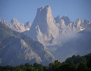 Picos de Europa - Naranjo de Bulnes -Picu Urriellu- seen from Pozo de la Oración, Cabrales, Asturias.