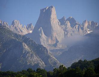 Picos de Europa - Naranjo de Bulnes (Picu Urriellu) seen from Pozo de la Oración, Cabrales, Asturias.