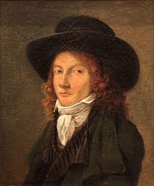 Pierre Révoil - Pierre Révoil (1797). Portrait by Jean-Michel Grobon (1770–1853)