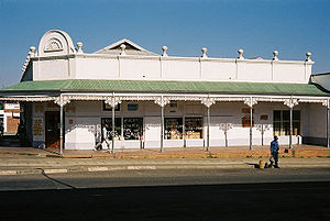 Piet Retief, Mpumalanga - Typical colonial building in central Piet Retief