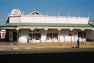 Piet Retief, Mpumalanga - Typical colonial building in central Piet Retief