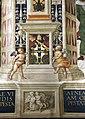 Pinturicchio, liberia piccolomini, 1502-07 circa, stemma piccolomini 4.JPG