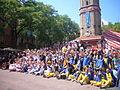 Plaça de la Vila de Gràcia - festa major 2012 foto de grup.JPG