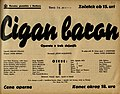 Plakat za predstavo Cigan baron v Narodnem gledališču v Mariboru 19. marca 1940.jpg
