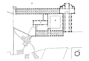 Vaux-de-Cernay Abbey - Ground plan