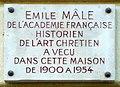 Plaque Émile Mâle.JPG