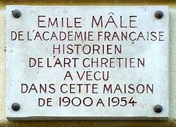 Plaque Émile Mâle
