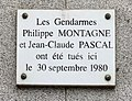 Plaque à Philippe Montagne et Jean-Claude Pascal à Montrouge (30 septembre 1980).jpg