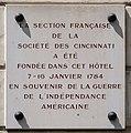 Plaque société des Cincinnati, 40 rue du Cherche-Midi, Paris 6e.jpg