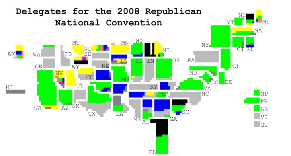 PledgedRepublicanDelegates2008