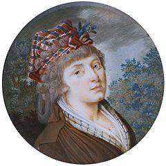 Miniatura kobiety w stylizowanej krakusce