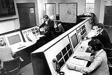 A 1970 police call centre in Brierley Hill, England