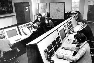 Call centre - A 1970 police call centre in Brierley Hill, England