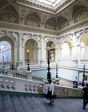 Lviv Polytechnic - Interior main staircase of Lviv Polytechnic