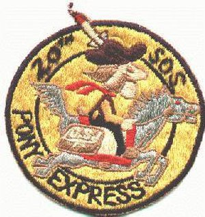 Operation Pony Express - Emblem of the 20th SOS, the Pony Express