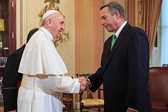 John Boehner - Speaker Boehner meets with Pope Francis during his visit to the United States Congress