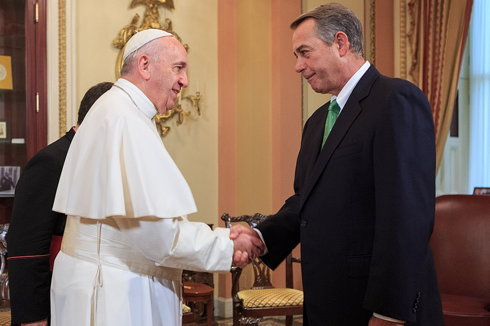 Pope Francis and Speaker Boehner