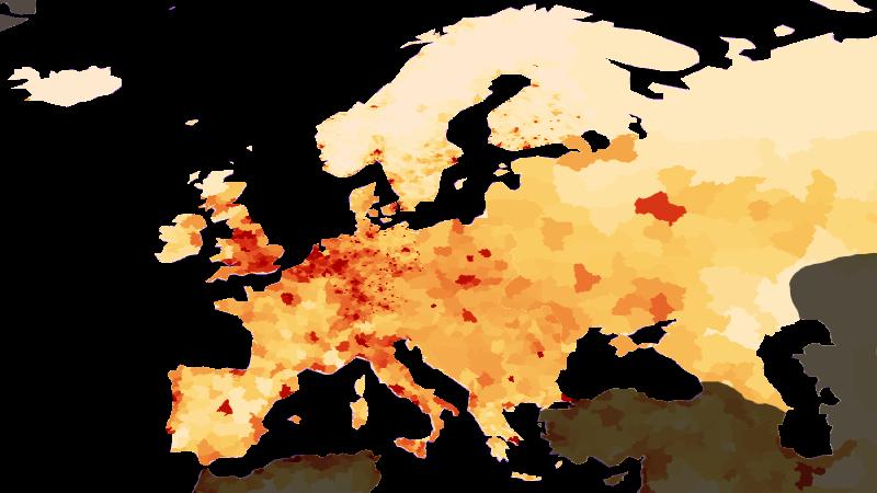 Population density Europe
