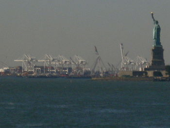 Port Jersey, with the Statue of Liberty in the foreground