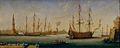 Port méditerranéen avec vaisseaux de guerre au milieu du XVII siecle.jpg