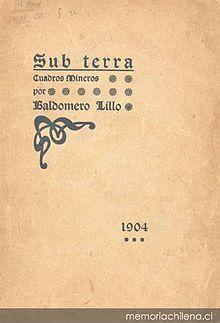 libro subterra de baldomero lillo