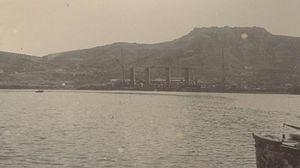 Russian cruiser Bayan (1900) - Bayan sunk at her mooring in Port Arthur.